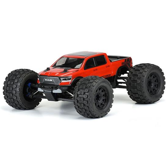 ProLine Pre-Cut 2020 Ram Rebel 1500 Clear Bodyshell - Fits E-Revo With Extended Body Mounts / 313mm WB Crawlers