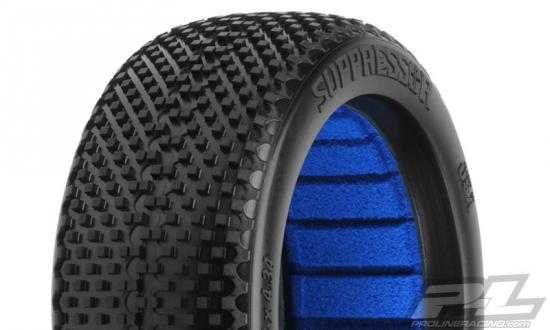 ProLine Suppressor 1:8 Buggy Tyres With Closed Cell Foams - M4 Super Soft