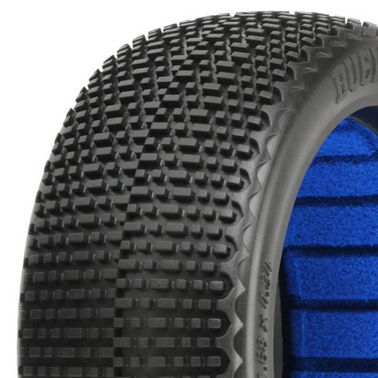 ProLine Buck Shot S3 Soft 1:8 Buggy Tyres With Closed Cell Inserts (2)