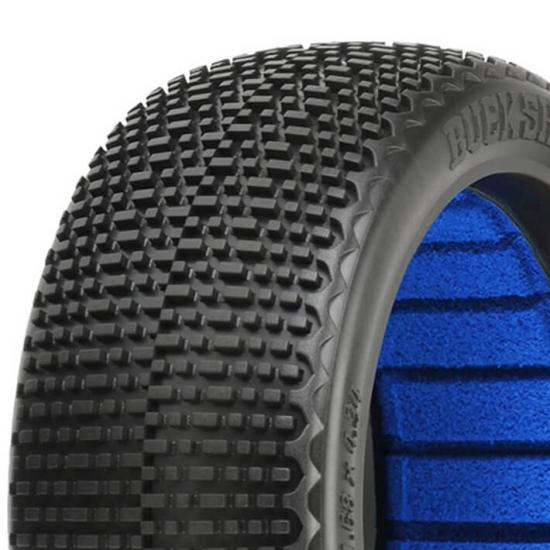 ProLine Buck Shot S4 Super Soft 1:8 Buggy Tyres With Closed Cell Inserts (2)