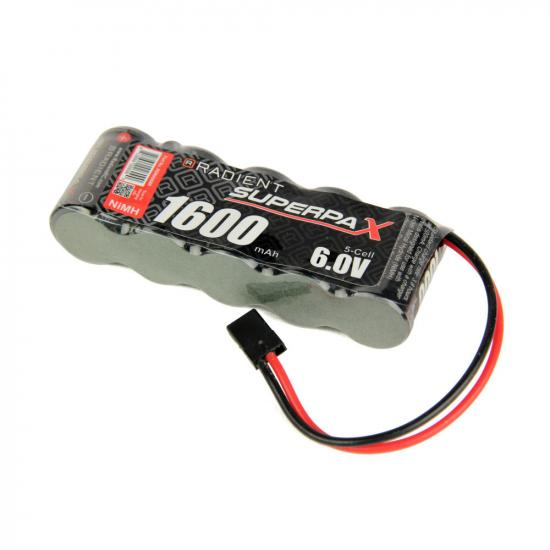 Battery, 2/3A 6V 5-Cell 1600mAh NiMH, SBS-Flat, RX-JR