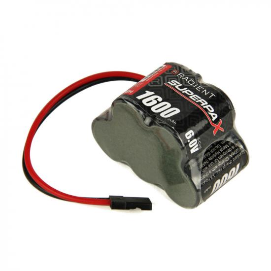 Battery, 2/3A 6V 5-Cell 1600mAh NiMH, 3-2 Hump, RX-JR