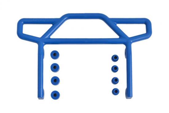 RPM Rear Bumper For Traxxas Elec Rustler 2WD - Blue