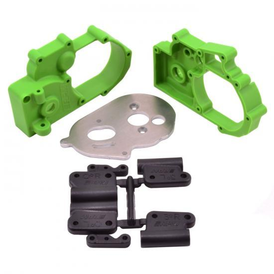 RPM Hybrid Gearbox Housing and Rear Mounts - Fits Traxxas 2WD Slash/Stampede/Rustler/Bandit - Green