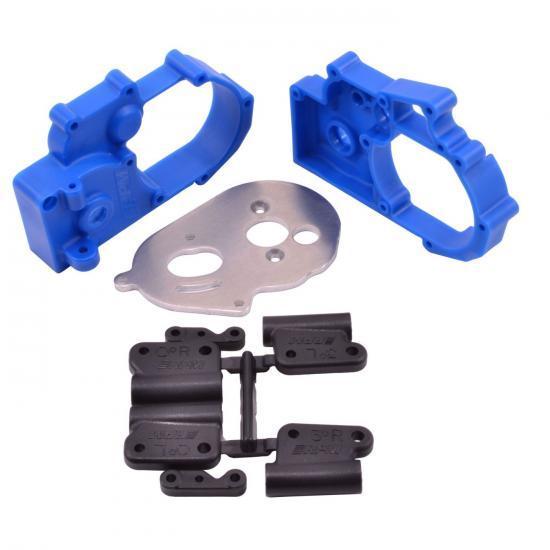 RPM Hybrid Gearbox Housing and Rear Mounts - Fits Traxxas 2WD Slash/Stampede/Rustler/Bandit - Blue