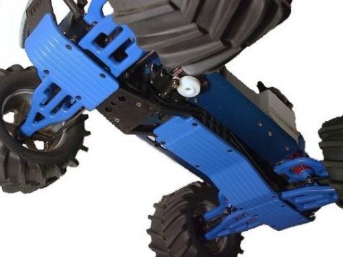 RPM T-MAXX Skid Plates - Full 3 Piece Set - Blue