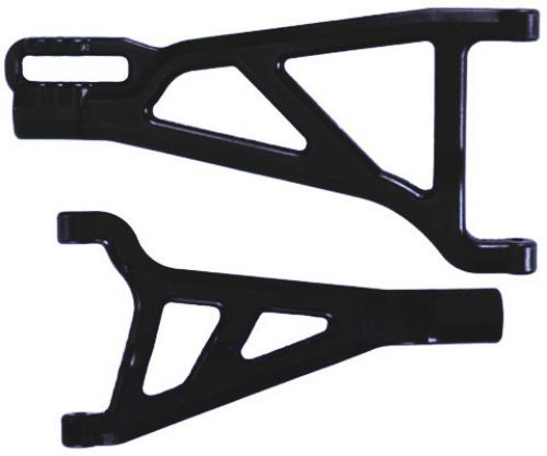 RPM Front Right Arms For Traxxas REVO - 1 Upper And 1 Lower - Black