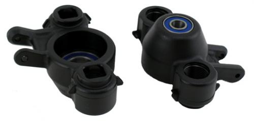 RPM Upgrade Hubs (Black) For Traxxas Revo Or E/T-MAXX 2.5R / 3.3 - With Oversized Bearings