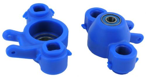 RPM Upgrade Hubs (Blue) for Traxxas Revo or E/T-MAXX 2.5R / 3.3 - with Oversized Bearings