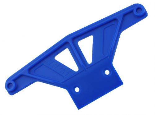 RPM Wide Front Bumper - Traxxas Rustler, Stampede, Sport And Bandit - Blue