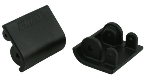 RPM Replacement Shock Skid Plates (2) For HPI Baja - Black