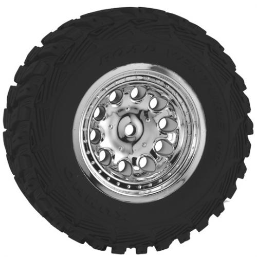 RPM Revolver Chrome Wheels - Traxxas Slash 2WD Front