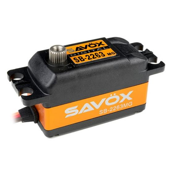 Savox SB2263MGB Low Profile Digital Servo - 10KG - 0.076s