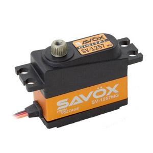 Savox SV1257MG High Voltage Digital Mini Rudder Servo - 4KG - 0.055s