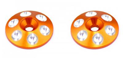 Alloy Rear Wing Shims - Orange - 2pcs