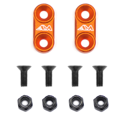 1/10 On-Road Alloy Wing Mounts - Orange