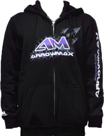 Arrowmax Sweater Hooded - Black (XXXXL)