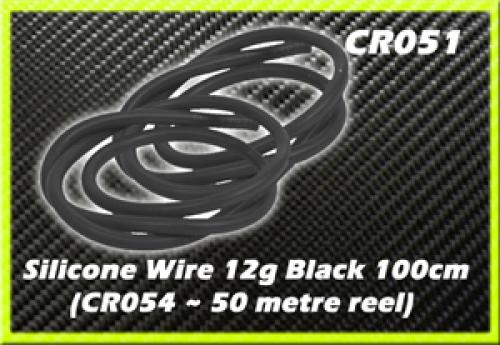 CORE RC Silicone Wire 12g - Black 1 Metre