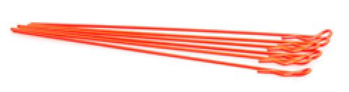 Extra Long Body Clip - 1/10th Size - Fluroescent Red - Pack Of 6