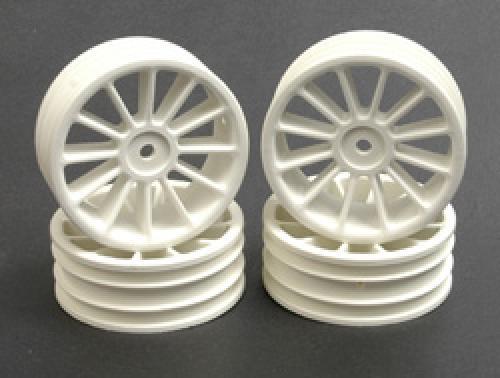 SST 12 Spoke Touring Car Wheels - 20mm Wide - White - Set Of 4