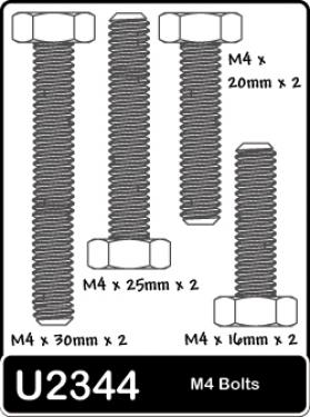 Speed Pack-M4 16;20;25;30 Bolts (pk8)