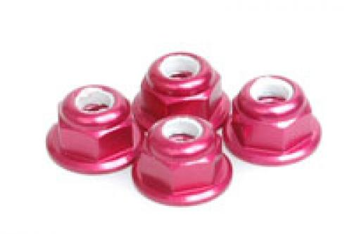 M4 Nylock Flanged Wheel Nut - Red Alloy (pk4)