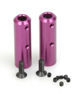 Purple Alloy Roll Bar Posts - Havoc (pr)