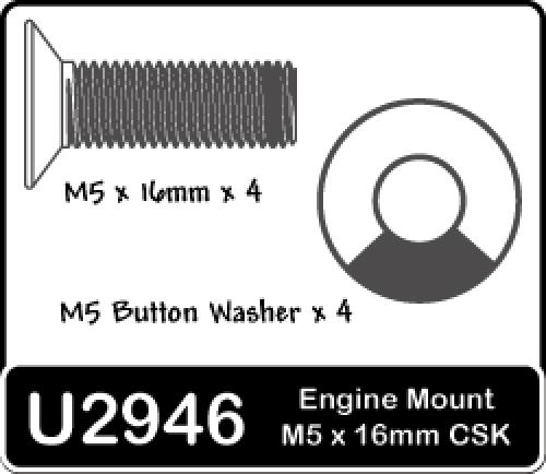 M5x16 Csk & Buttons (4prs)