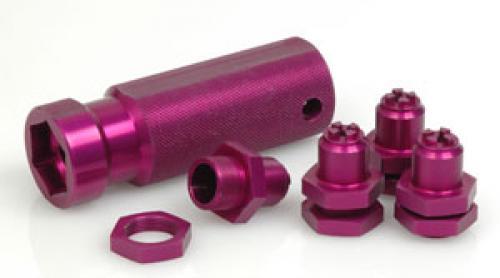 Alloy 23mm Hex Wheel Adaptor Set