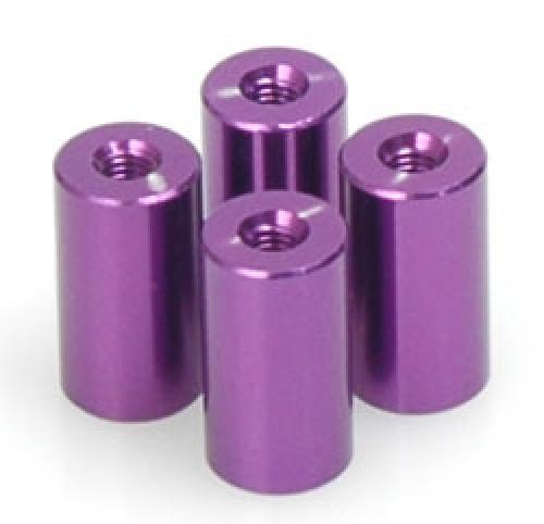 Purple Alloy Spacer - M3x14 pk4