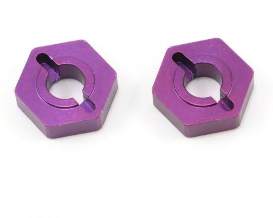 Purple Alloy Wheel Hex; Grooveless (pr)