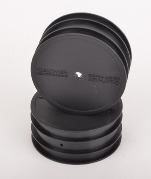 Schumacher Cat K1 Buggy Front Wheels - Black (2) ** CLEARANCE **
