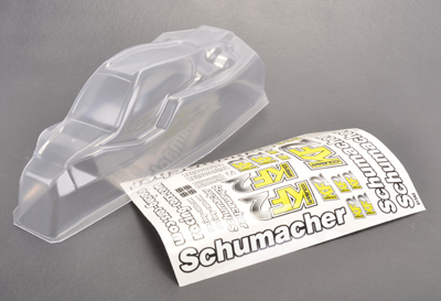 Schumacher KF2 Mid Bodyshell With Decals and Window Masks