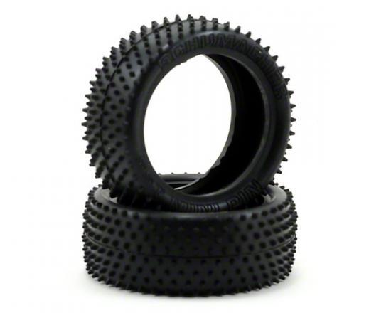 Schumacher Yellow Mini Pin Touring Car Tyres - 24/25mm Width - Pair