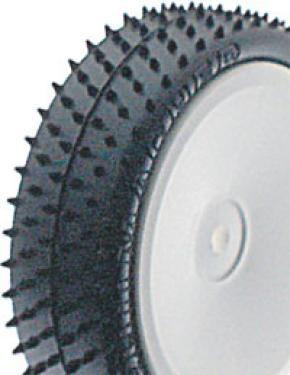 Schumacher Yellow Mini Pin Touring Car Tyres - 20mm Width - Pair