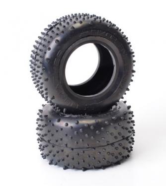 Schumacher Mini Spike Truck Tyres - Silver - 1 Pair