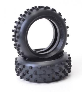 Schumacher Block Front Tyres - Yellow - Cat - 1 Pair