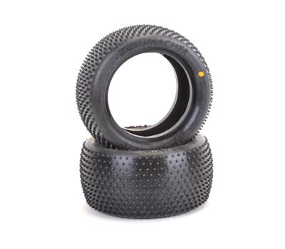 Schumacher Mini Pin 1 Rear Buggy Tyres - Yellow  - 1 Pair