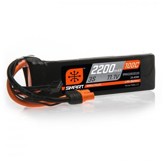 2200mAh 3S 11.1V 100C Smart LiPo Battery IC3