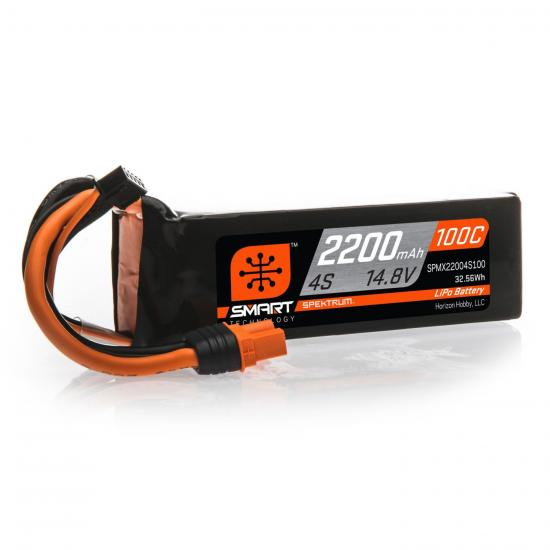 2200mAh 4S 14.8V 100C Smart LiPo Battery IC3