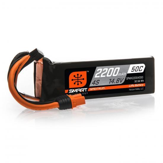 2200mAh 4S 14.8V 50C Smart LiPo Battery IC3