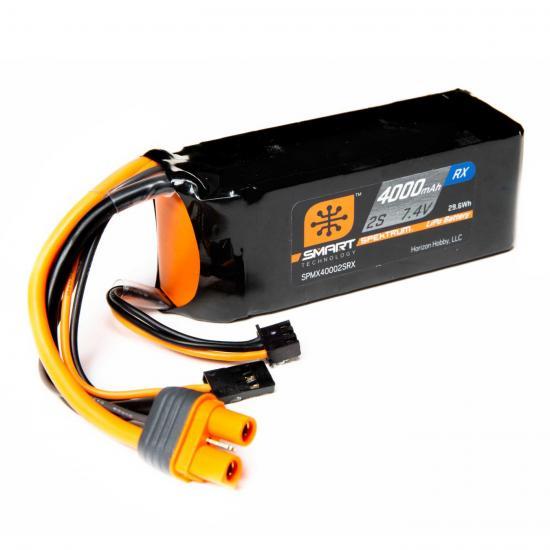 4000mAh 2S 7.4V Smart LiPo Receiver Battery IC3