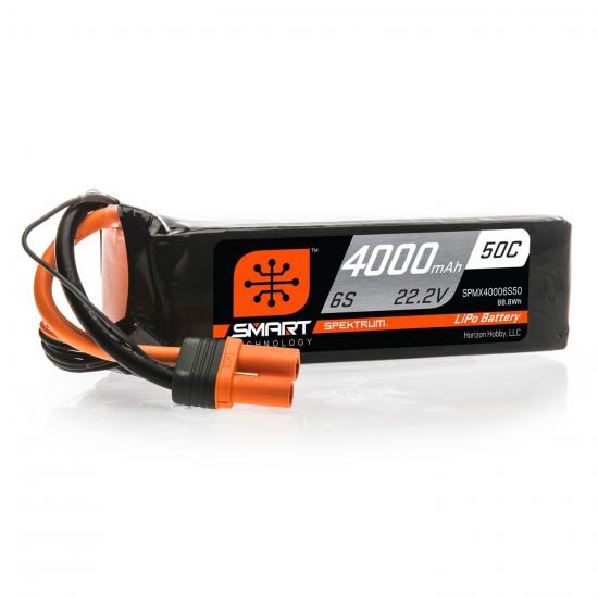 4000mAh 6S 22.2V 50C Smart LiPo Battery IC5