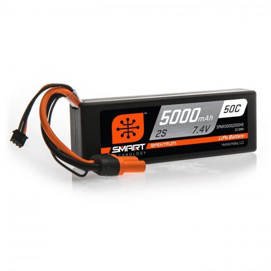 5000mAh 2S 7.4V 50C Smart LiPo Hardcase IC5