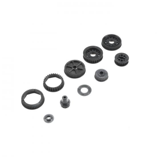 Drive & Differential Pulley Set: 22-4 / 2.0