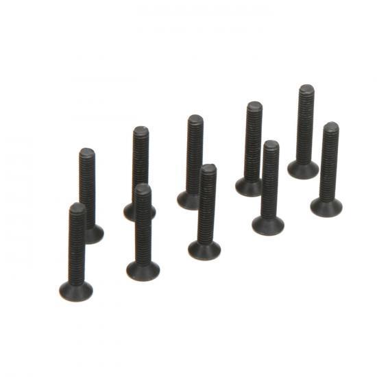 Flat Head Screws M3 x 18mm (10)