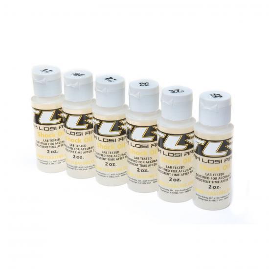 TLR Pro Shock Oil 6 Pack - 17.5 22.5 27.5 32.5 37.5 42.5 Weights - 2oz Bottles