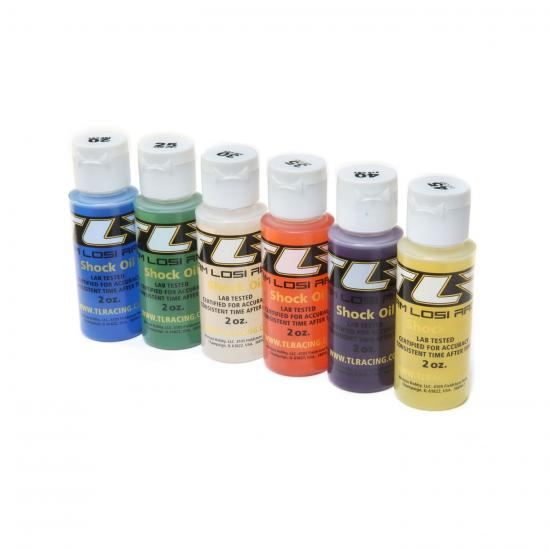 TLR Pro Shock Oil 6 Pack - 20 25 30 35 40 45 Weights - 2oz Bottles