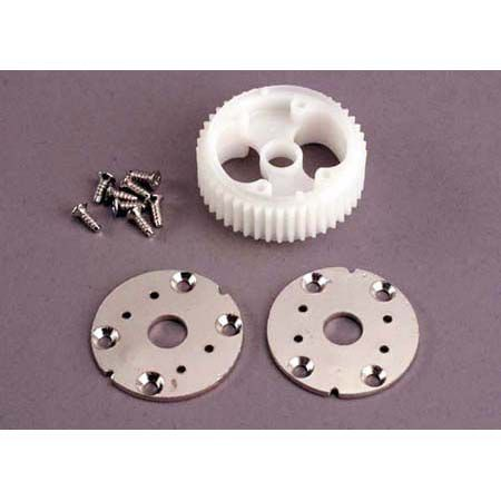 Traxxas Main differential gear (32-pitch)/ metal side plates (2)/self-tapping screws (8)