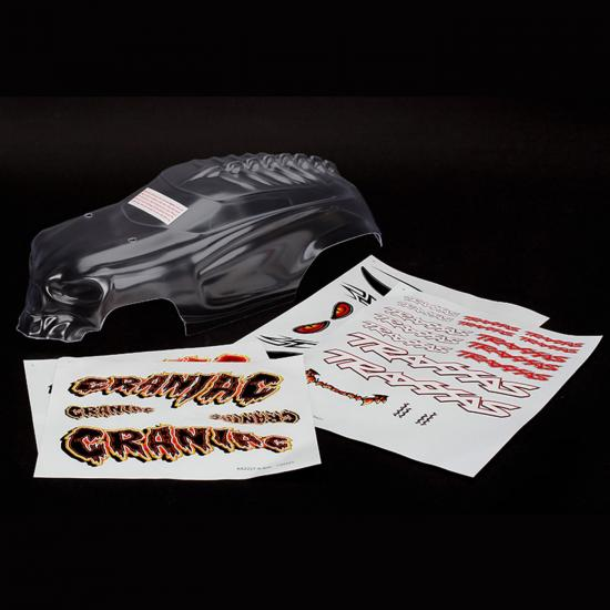 Traxxas Body Craniac heavy duty (clear requires painting)/ decals